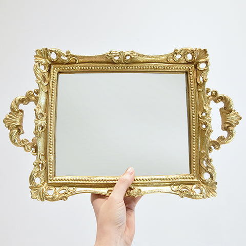 Tray - Victorian Gold Mirror Tray
