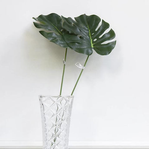 Decorative Green Split Leaf Stem, Large