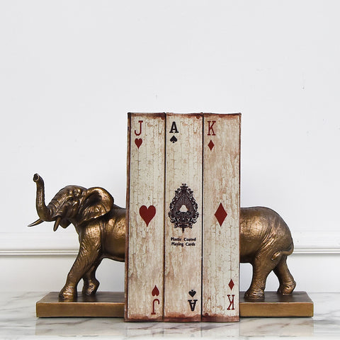 Elephant Bookends, Bronze (Set of 2)