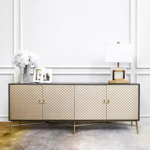 Elize 4 Door Sideboard in Living Room Decor