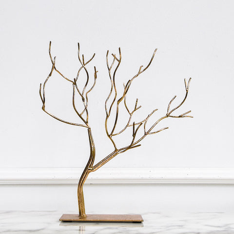Elm Branched Tree Decor Sculpture, Gold
