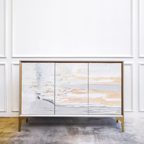 Ember 3 Door Sideboard in Artistic Seascape