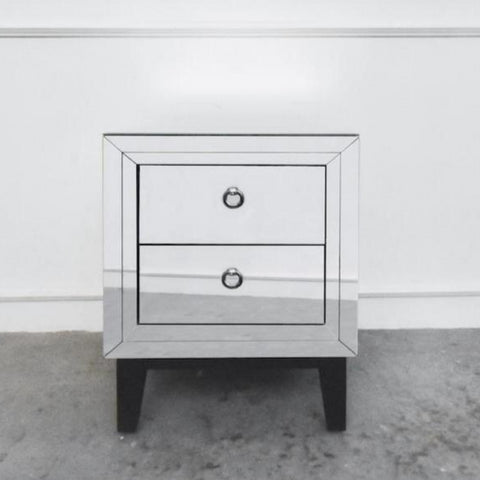 Etienne Mirrorerd Side Table