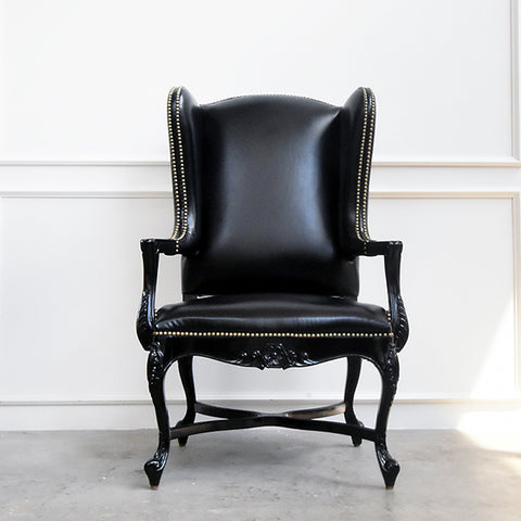 Firenzi Wingback Leather Armchair