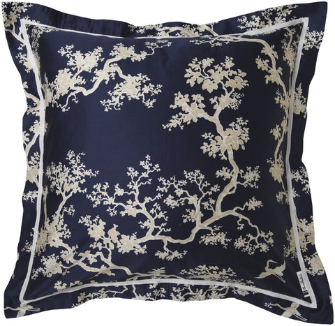 Buy online designer furniture in Singapore, Florence Broadhurst The Cranes Blue and white pillow sham.