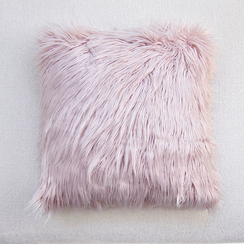 FurFur Dusty Pink Down Feather Cushion