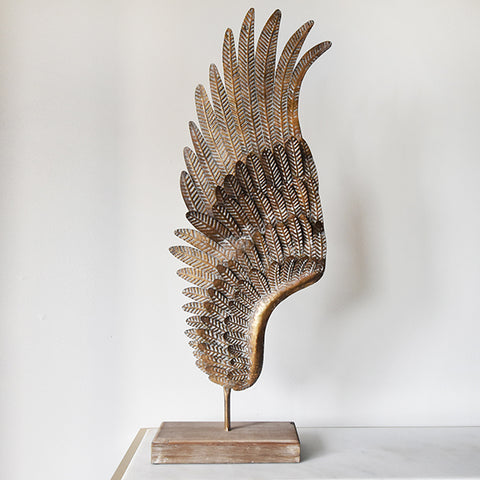 Fifine Antique Wings Sculpture on stand