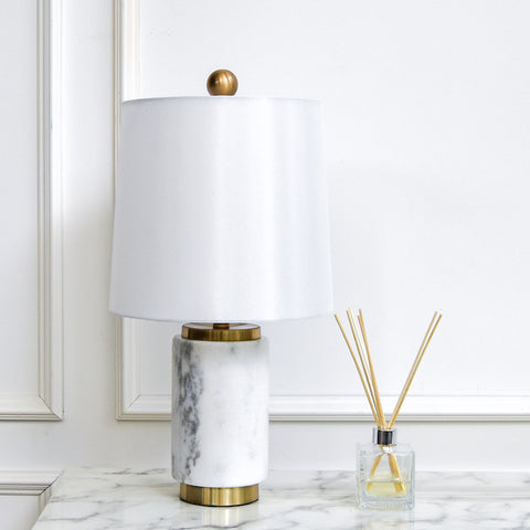 Francois II White Marble Table Lamp
