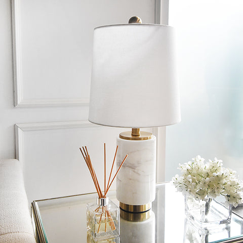 Francois White Marble Gold Table Lamp