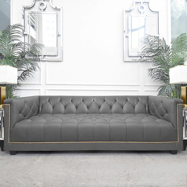 Furst Leather Chesterfield Sofa