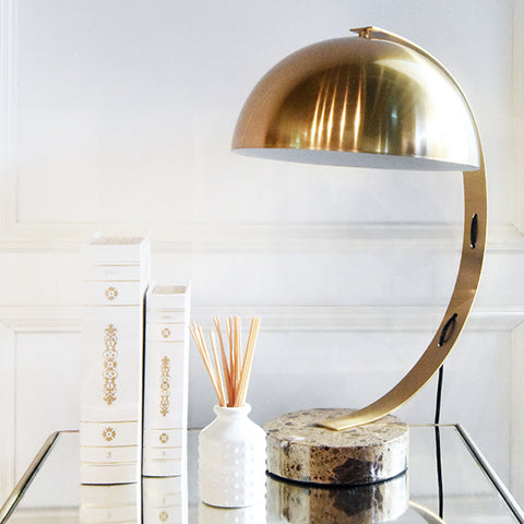 Christophe Gold Metal Marble Table Lamp