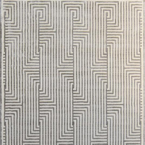 Galileo Geometric Rug in Beige and grey