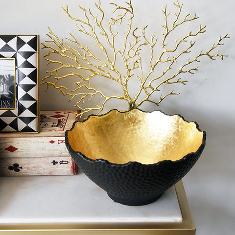 Glisse Gold Black Bowl