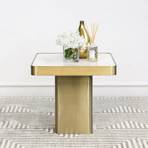 Guy Faux Marble Coffee Table Gold Decor Ideas