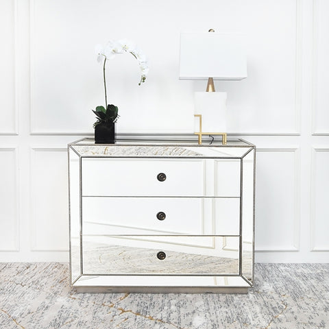 Hermes Mirrored Chest of Drawers