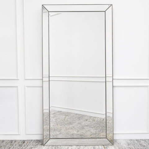 Full Length Wall Mirror with Vintage Detailis