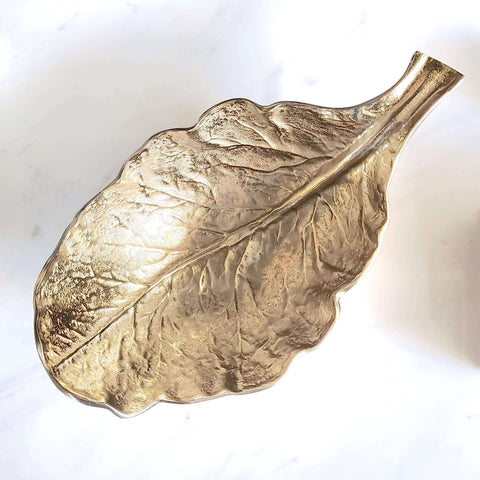 Harcourt Gold Leaf Bowl - Sculpture Textured Bowl