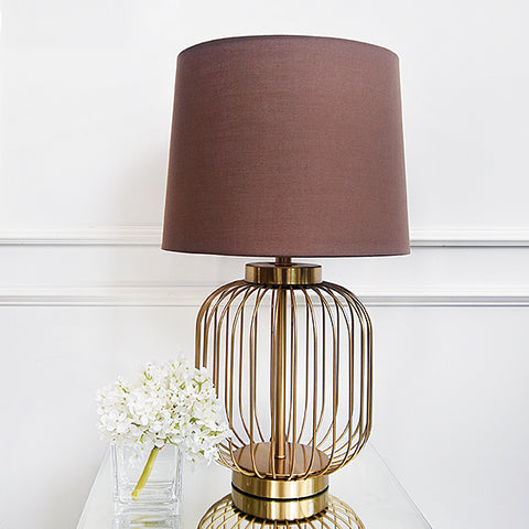 Table lamp with gold wire design for a modern yet vintage feel