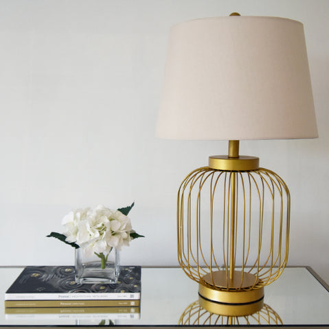 Holly Gold Metal Table Lamp