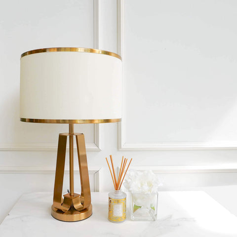 Jacques Gold Table Lamp with Entrance Console Table Decor Ideas