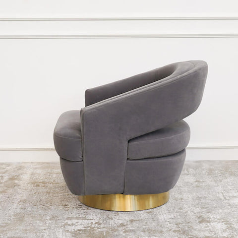 Kelly 360 Swivel Armchair, Gold Base