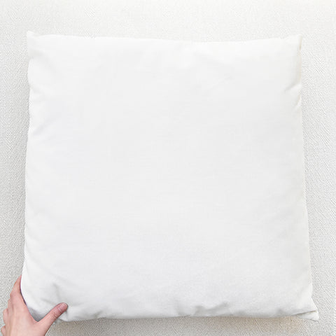 Ivory Velvet Cushion - Large (65cm by 65cm)