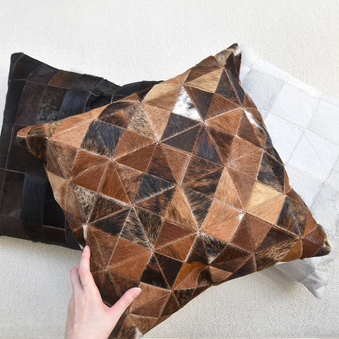 Brown Leather Cushion (Limited Edition) As-Is