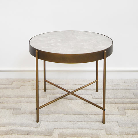 Sol II Marble Gold Coffee/ End Table, Grande