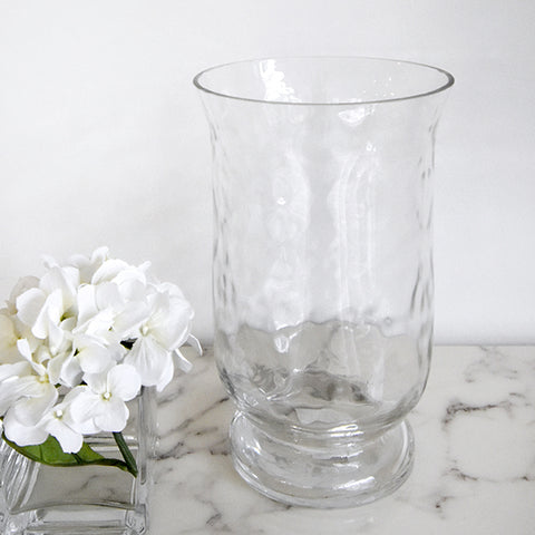 Glacier Textured Glass Vase, Two Sizes on display at showroom