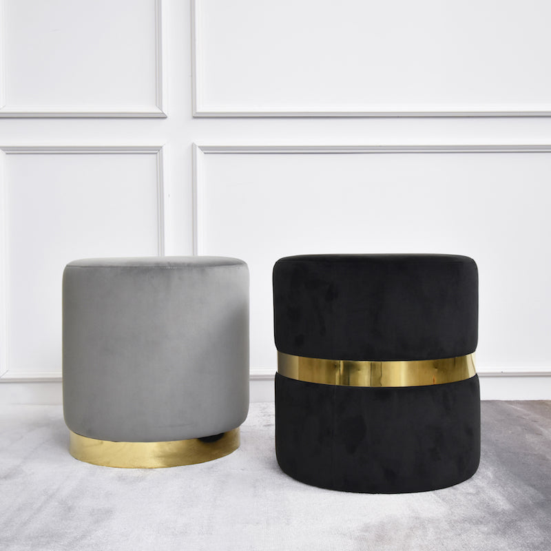 Mercier Round Dresser Stool and Footstool