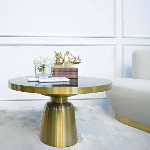 Louis Art Deco Gold Coffee Table in Modern Art Deco Home Interior Design
