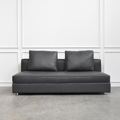 Mahattan Leather Sofa, Novillo Grey