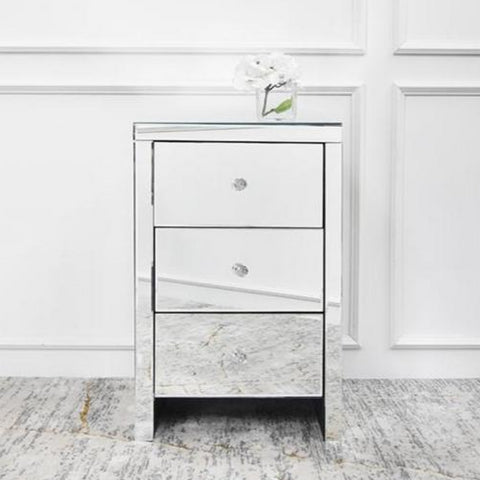 Mireille Mirrored End Table