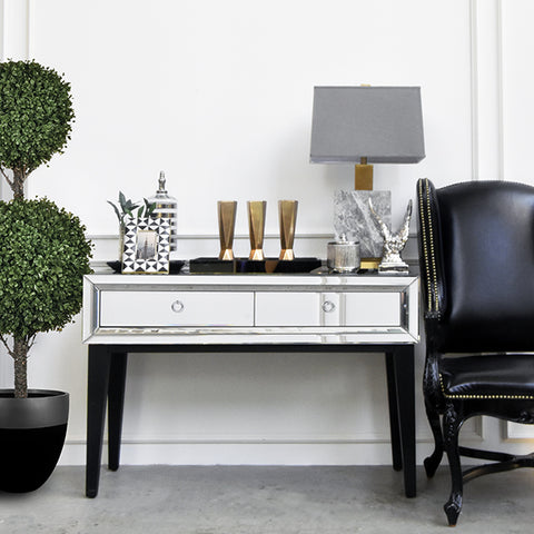 Modern Parisian Mirrored Console Table