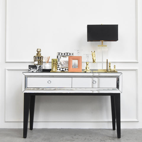 Entryway Mirrored Console Table