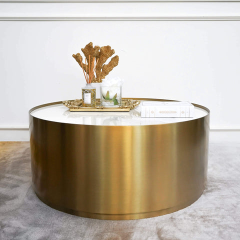 Marc Modern Art Deco Gold Coffee Table with Coffee Table Decor Ideas