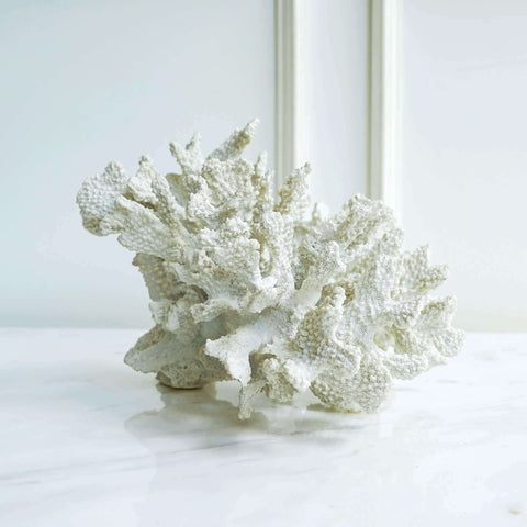 Maurel white faux coral decor for book shelf decor and coffee table decor