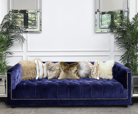 Chesterfield 3 Seater Plus Sofa in Royal Purple Velvet