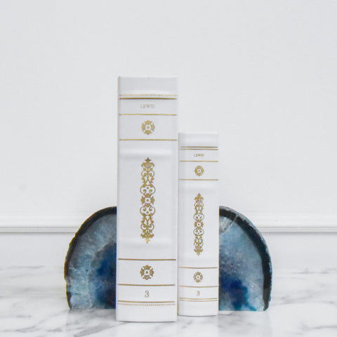 Serenity Blue Agate Bookend