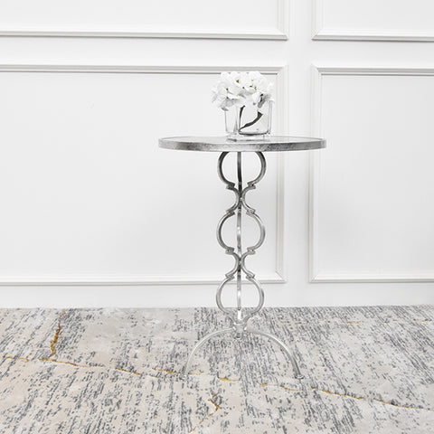 Princesse Occasional Silver End Table