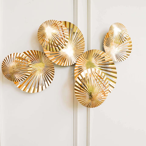 Ola Gold Geometric Wall Art Sculpture for modern feature wall decor