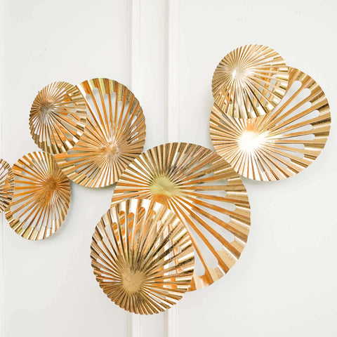 Ola Gold Geometric Wall Art Sculpture, Extra Large