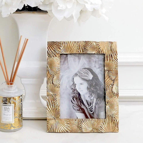 Palms Gold Leaves Photo Frame for Feng Shui Deco Ideas