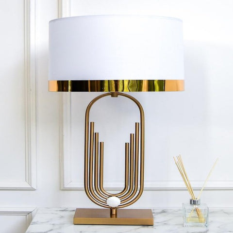 Pearl Bank Gold Table Lamp