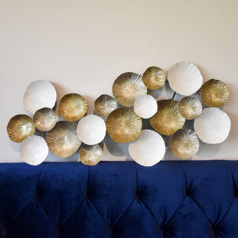 Gold wall art decor sculpture