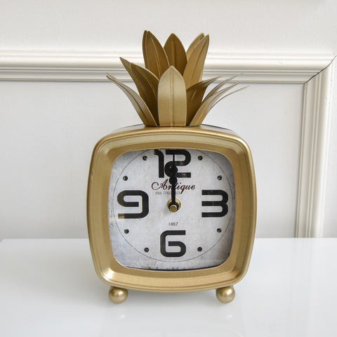 Ananas Pineapple Gold Clock