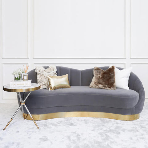 Primrose 3-seater Curved Sofa, Styled with Cushions
