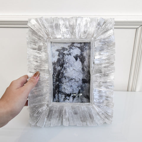 Rio White Selenite Crystal Photo Frame