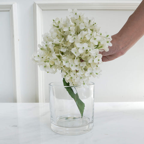 Ritz Simple Glass Vase, Round