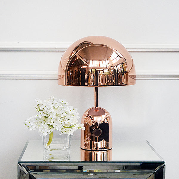Table lamps online home decor finnavenue finn avenue halo rose gold dome table lamp aloadofball Image collections